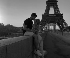 black and white, france, and girl image