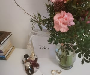 book, dior, and flowers image
