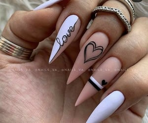 nails, heart, and white image