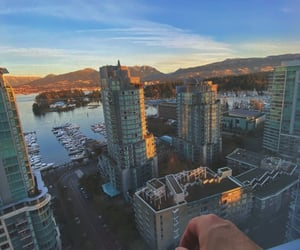 bc, sky, and vancouver image