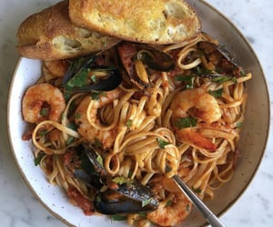 food, dinner, and pasta image