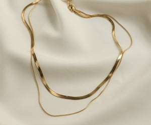 gold, plenty, and snake chain image