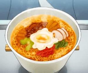 anime, gif, and anime food image