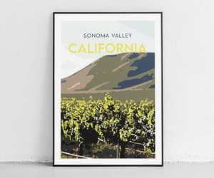 travel posters, travel prints, and california poster image