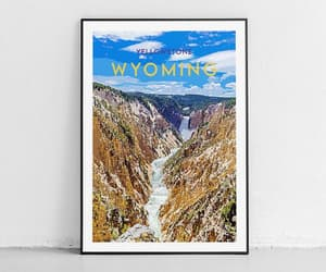 etsy, yellowstone print, and wyoming poster image