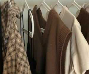aesthetic, brown, and closet image