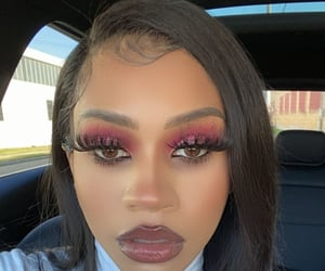 eyeshadow, Foundation, and hair image