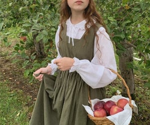 hair, hairstyle, and orchard image