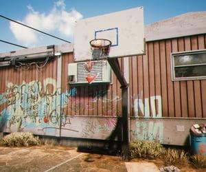 backyard, trailer, and Basketball image