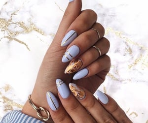 design, neon nails, and marble nails image