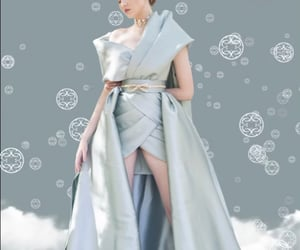 blue, gown, and haute couture image