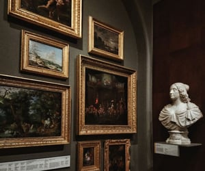 art, museum, and dark academia image