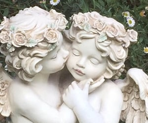 angel, aesthetic, and kiss image