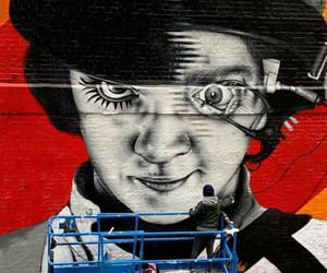 laranja mecanica, street art, and the clockwork orange image