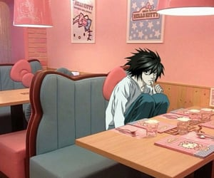 cafe, death note, and hello kitty image