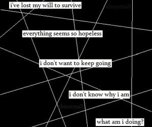 hopeless, words, and depression image
