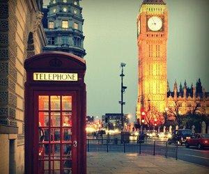 london, telephone, and Big Ben image
