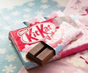 chocolate, food, and kitkat image