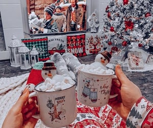 girl, aesthetic, and christmas image