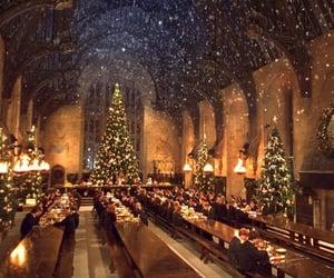 christmas, harry potter, and hogwarts image