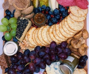 blueberries, cheese, and food image