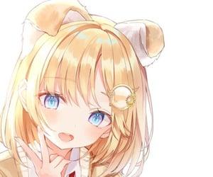 anime, anime girl, and doggy image