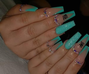 gems, nails, and turquoise image