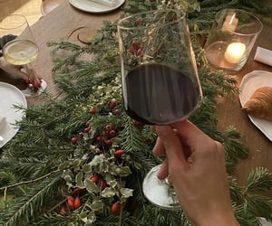 candle, christmas, and drink image