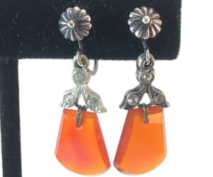 etsy, estate jewelry, and art deco earrings image