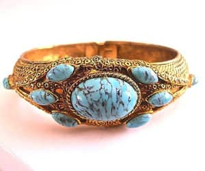 etsy, faux turquoise, and turquoise art glass image