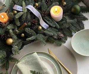 candles, christmas, and christmas tree image