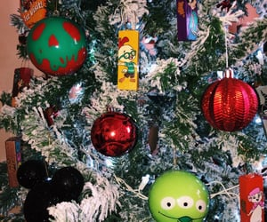 baubles, christmas, and goofy image