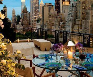 city, new york, and dinner image