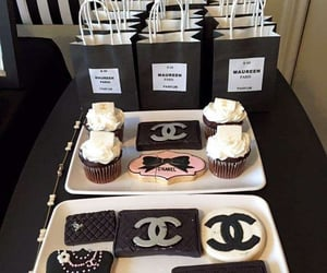chanel, crystals, and cupcakes image