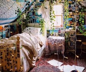 bedroom, plants, and boho image