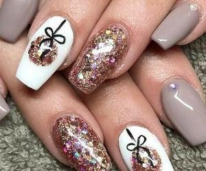 nails, grey, and holidays image