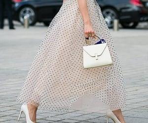 dress, handbag, and inspiration image