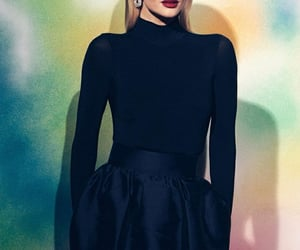 black, elegant, and red lipstick image