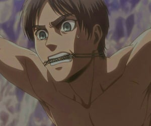 anime, eren jaeger, and attack on titan image