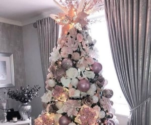 arbre, hiver, and rose image