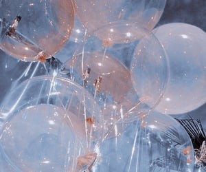 aesthetic, balloons, and blue image