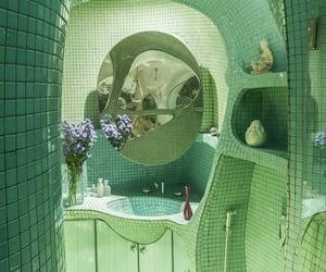 bathroom, green, and aesthetic image