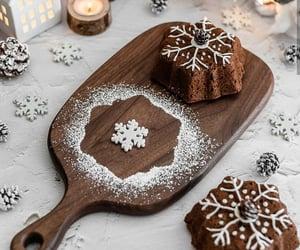snowflake, yemek, and cake image