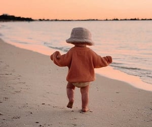 baby, beach, and cute image