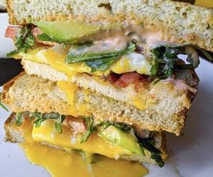 sandwich, healthy food, and breakfast sandwich image