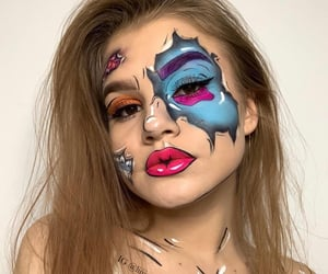 beauty, makeup artist, and artistic makeup image