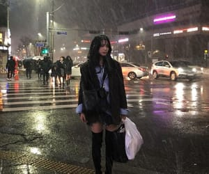 asian, rain, and street image