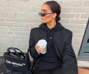 black, off-white, and fashion image