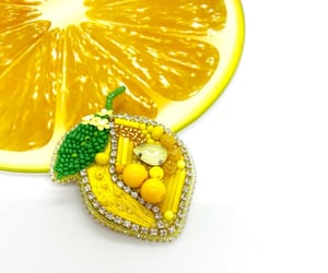 beads, handmade, and lemon image