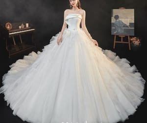 bridal, bridal gown, and wedding dress image